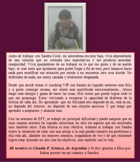 testimonioClaudia Pagani